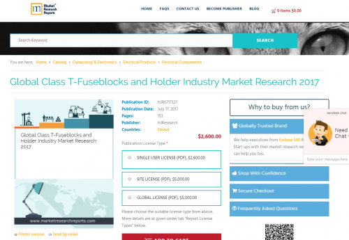 Global Class T-Fuseblocks and Holder Industry Market'
