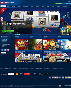 Betfred Mobile Casino Games'