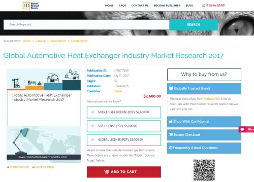 Global Automotive Heat Exchanger Industry Market Research'