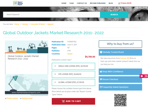 Global Outdoor Jackets Market Research 2011- 2022'