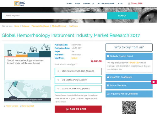Global Hemorrheology Instrument Industry Market Research'