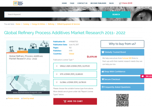 Global Refinery Process Additives Market Research 2011- 2022'