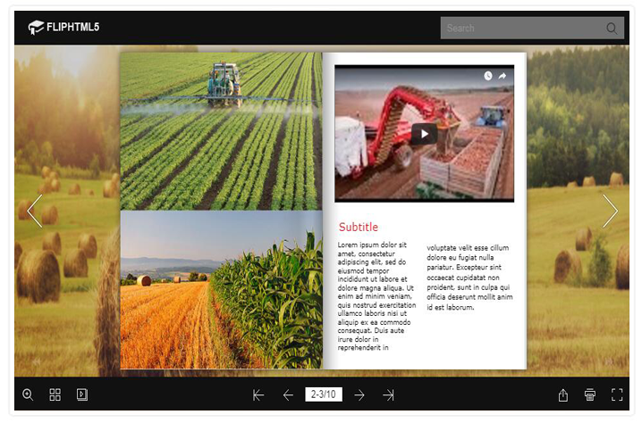 FlipHTML5 Introduces Agriculture Magazine Templates