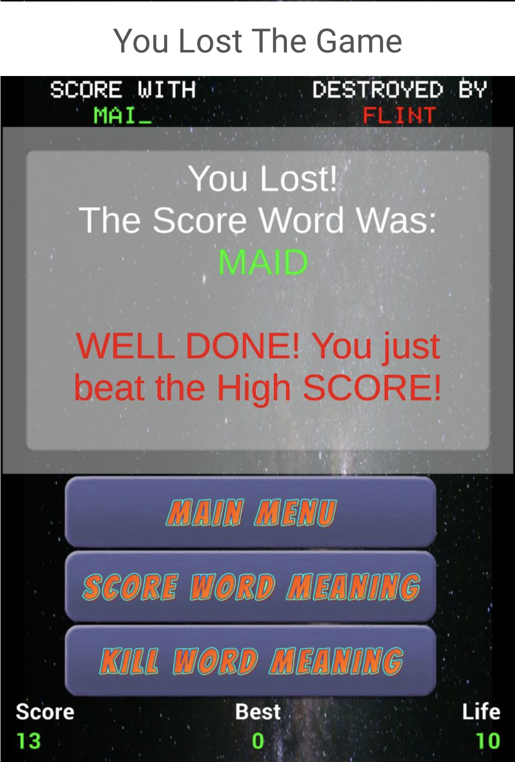 Word Assassin Game App