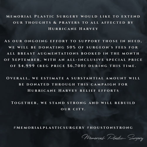 Hurricane Harvey Relief - Memorial Plastic Surgery'
