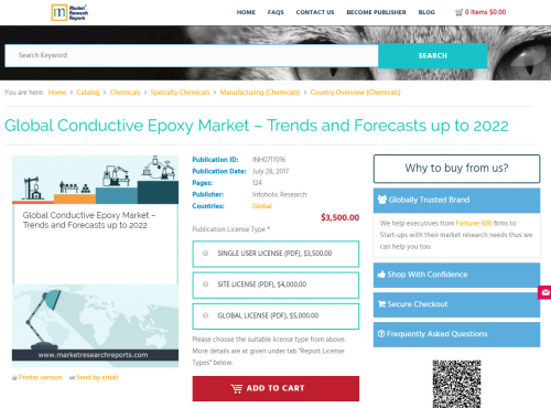 Global Conductive Epoxy Market – Trends and Foreca'