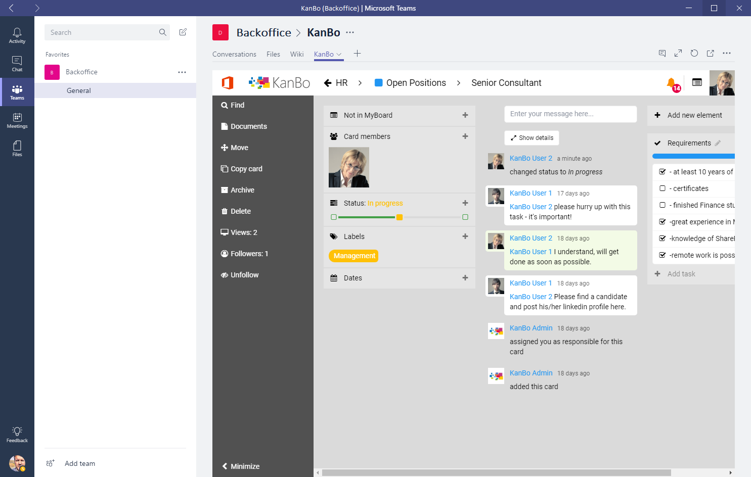 KanBo for Microsoft Teams