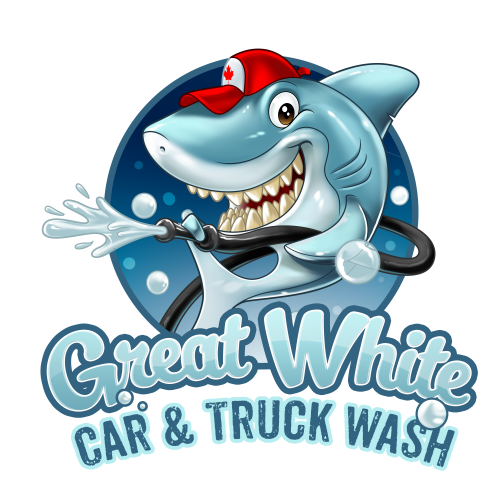 Company Logo For Great White Car & Truck Wash'