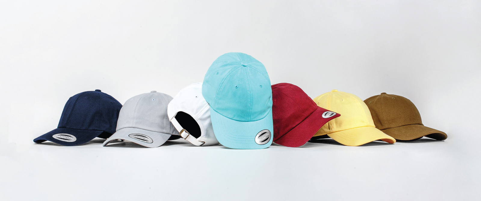 YP Basics Classic Dad Hat now available in ultra soft peache