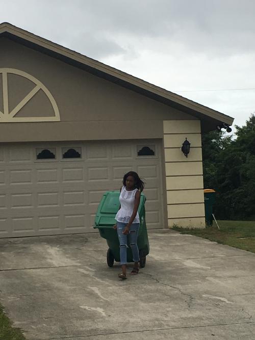 Ariel takes out the trash'