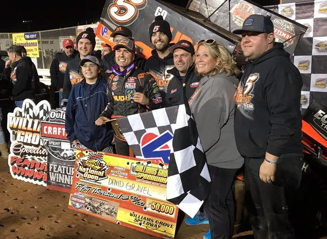 DAVID GRAVEL WINS CHAMPION RACING OIL NATIONAL OPEN AT WILLI