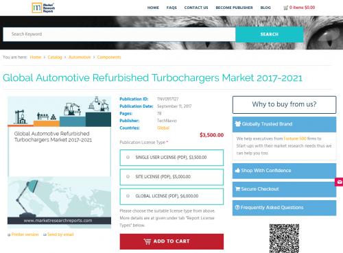 Global Automotive Refurbished Turbochargers Market 2017-2021'
