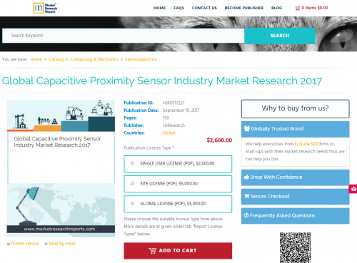 Global Capacitive Proximity Sensor Industry Market Research'