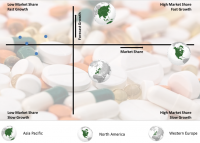 Growth/Share Chart On The Pharmaceuticals Market By Region