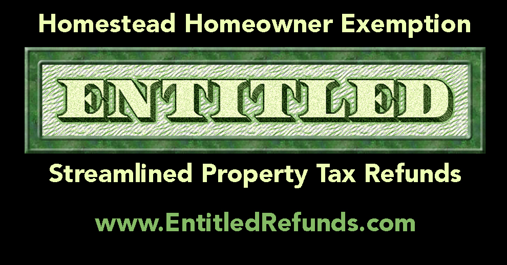 Entitled Homeowner Exemption Streamlined Property Tax Refund