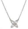 Tiffany Co. Victoria Platinum Diamond Flower Necklace'