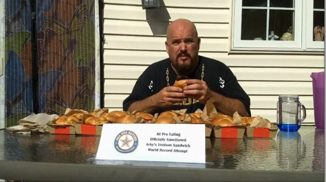 World Arby's Venison Sandwich Eating Record Attempt
