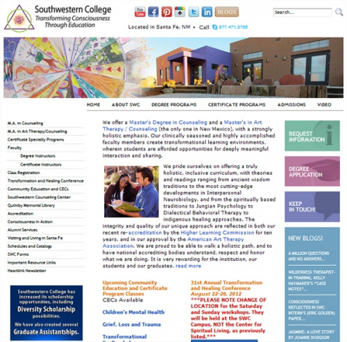 A preview of the newly redesigned Southwestern College Websi'