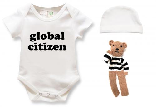 Estella Organic Baby Onesie Global Citizen'