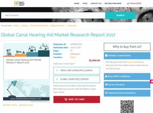 Global Canal Hearing Aid Market Research Report 2017'