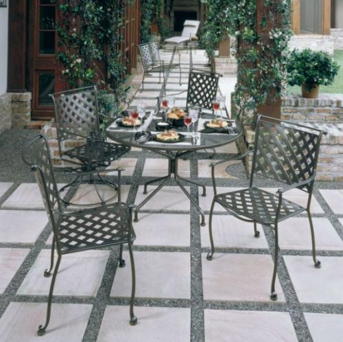 Wrought iron patio furniture'