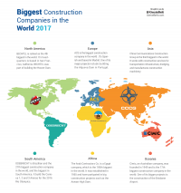 Map of The Biggest Construction Companies In The World