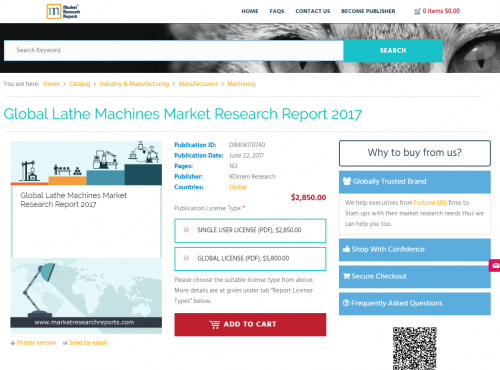 Global Lathe Machines Market Research Report 2017'