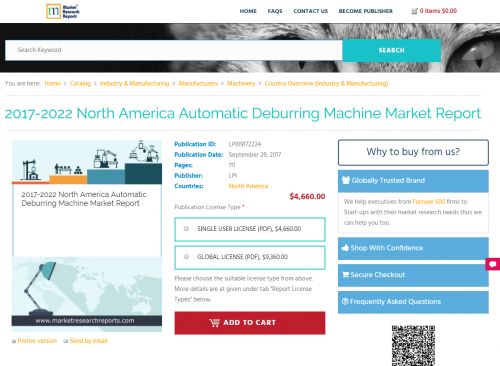 2017-2022 North America Automatic Deburring Machine Market'