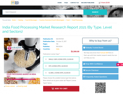 India Food Processing Market Research Report 2021'