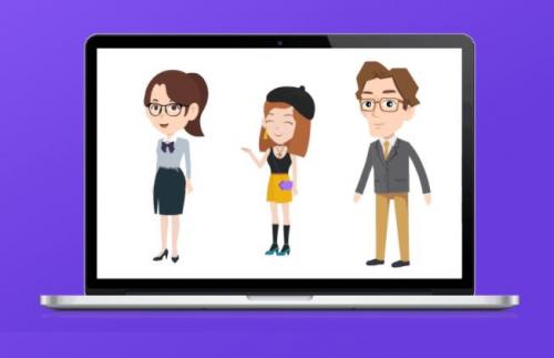 make an animated video presentation with Animiz'