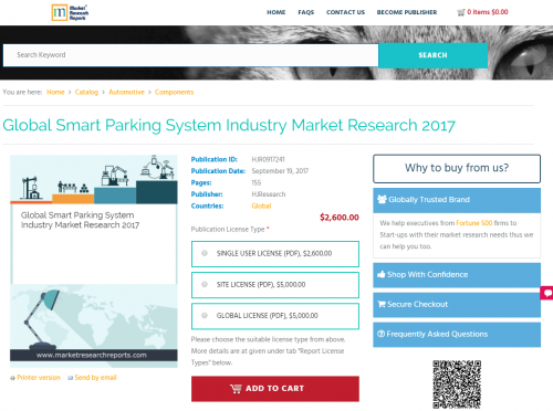 Global Smart Parking System Industry Market Research 2017'