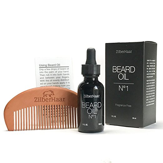 ZilberHaar Beard Oil No.1 + Free Beard Comb