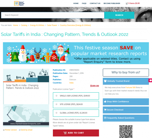 Solar Tariffs in India : Changing Pattern, Trends &'