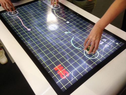 Many markers on touch screen'