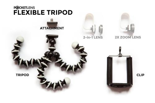 Pocket Lens Octopus Tripod'