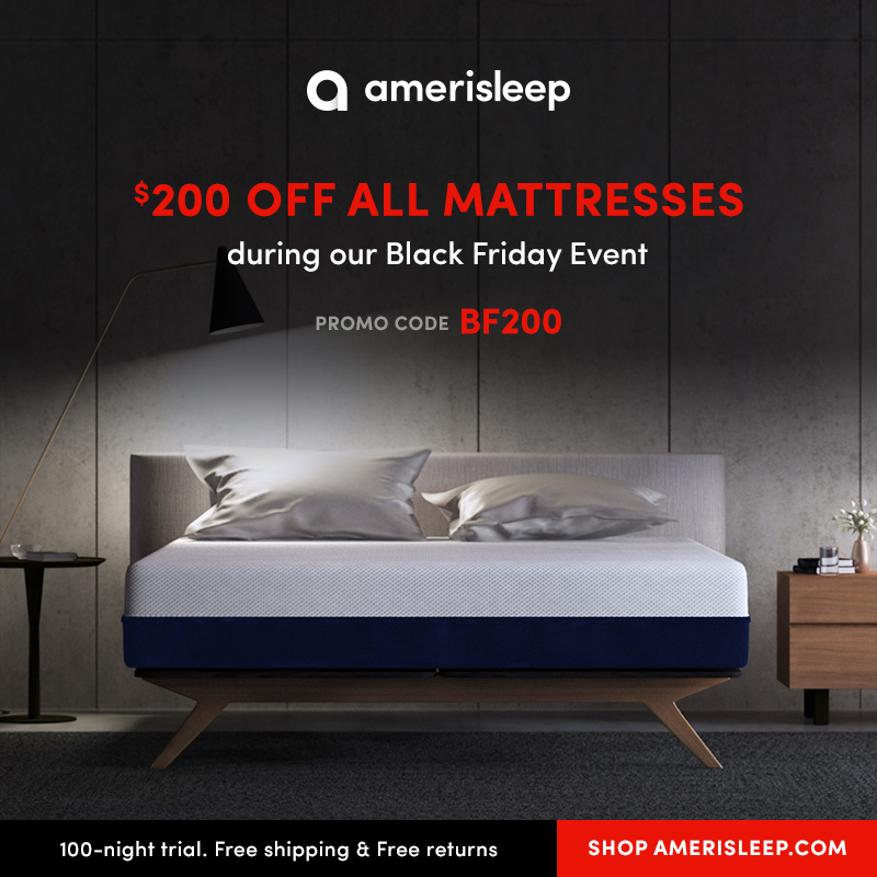 Amerisleep's 2017 Black Friday Mattress Sale Launc