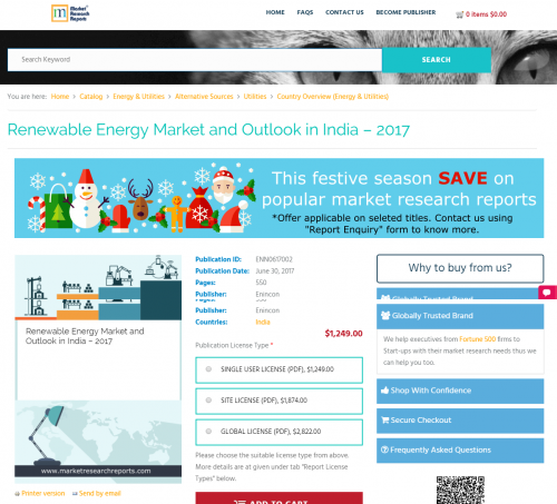 Renewable Energy Market and Outlook in India - 2017'