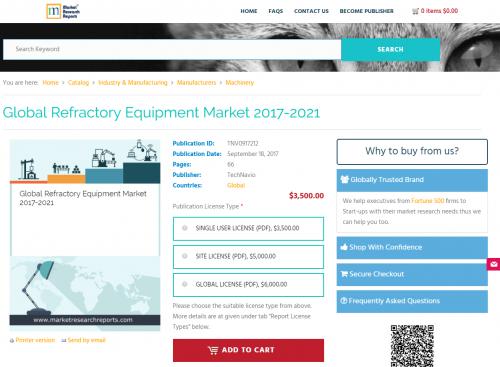 Global Refractory Equipment Market 2017 - 2021'