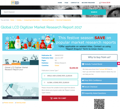 Global LCD Digitizer Market Research Report 2017'