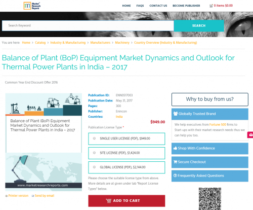 Balance of Plant (BoP) Equipment Market Dynamics and Outlook'