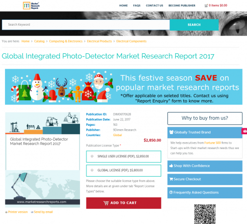Global Integrated Photo-Detector Market Research Report 2017'