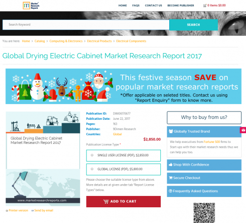 Global Drying Electric Cabinet Market Research Report 2017'