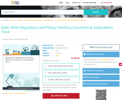 State Wise Regulatory and Policy Interface Dynamics'