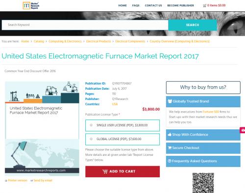 United States Electromagnetic Furnace Market Report 2017'