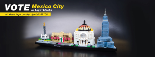 Photography of Lego Mexico City - Final model may vary.'