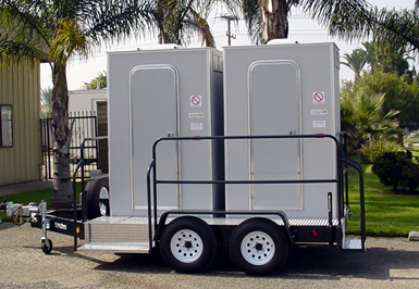 Portable toilets for rent'