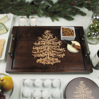 Vintage Christmas Tree Serving Tray