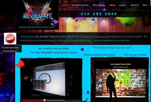 Website for Air Graffiti Dallas'
