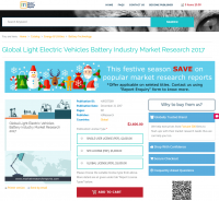 Global Light Electric Vehicles Battery Industry Market 2017