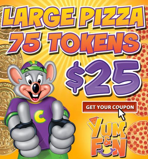 Chuck E Cheese coupons'